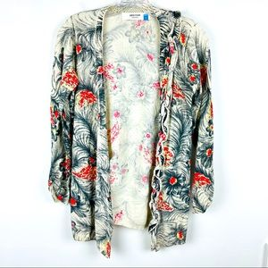 Anthropologie Sparrow Peacock Floral Cardigan